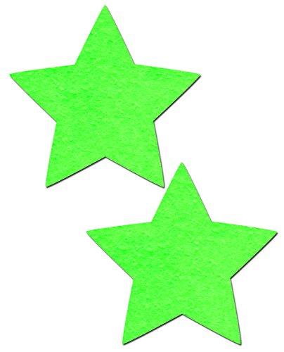 Neon Green/Glow-in-the-Dark Star Nipple Pasties by Pastease (Neon Glow In The Dark Dresses)
