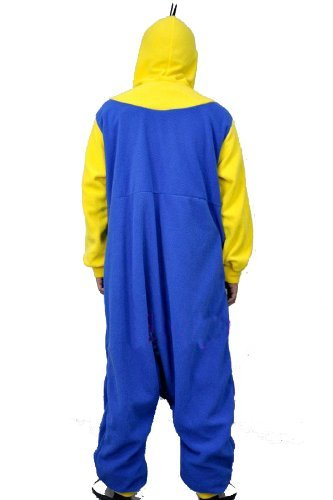 De Vellón con forro Polar de GRU MI VILLANO FAVORITO amarillo y azul enterizo Cosplay sudadera Unisex de minion de traje de baño/pijama/apagado Wear, polar, yellow and blue, XL(180-190 CM) yellow and blue