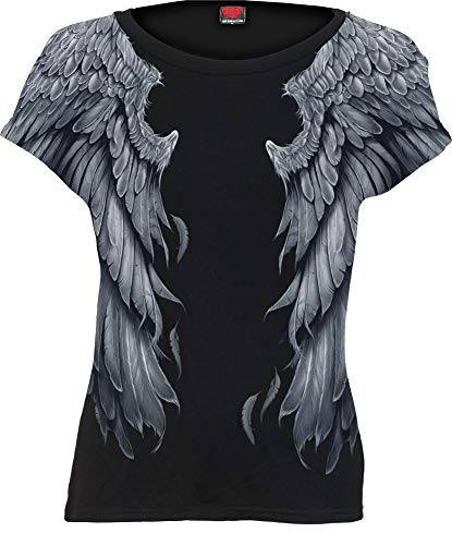 Spiral - Seraphim - Allover Cap Sleeve Top Black - ()