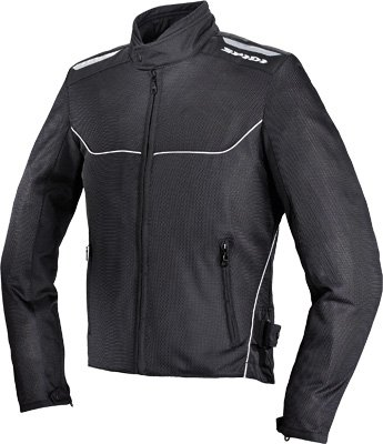 Spidi Sport S.R.L. Netix Tex Jacket , Size: 2XL, Distinct Name: Black, Gender: Mens/Unisex, Apparel Material: Textile, Primary Color: Black T148-026-2X
