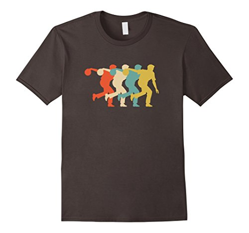 Mens Bowler Vintage Retro Art Cool Bowling T Shirt Gift 2XL Asphalt