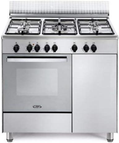 cocina A Gas 5 fuegos Horno eléctrico Multifuncional con grill 90 x 60 cm