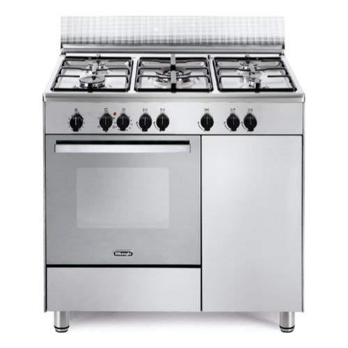 Cucina a Gas 5 Fuochi Forno elettrico Multifunzione con Grill 90x60 ...