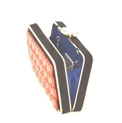 AwAy bolsa de embrague de charol stones con correa para el hombro polso bag clutch diamond pochette Rojo