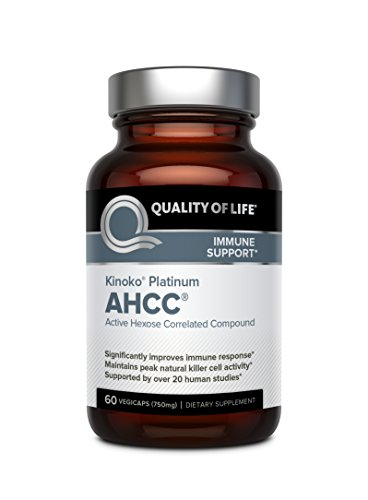 Cell Activity - Premium Kinoko Platinum AHCC Supplement – 750mg of AHCC per Capsule – Supports Immune Health, Liver Function, Maintains Natural Killer Cell Activity – 60 Veggie Capsules