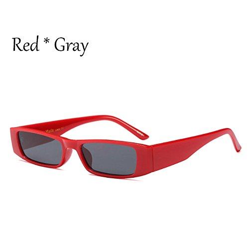 Sol Red G470 C4 Gris Gafas De Vintage Gray Blanco Señoras Sol Leopardo TIANLIANG04 Gafas Tonos C6 Mujer De Negro Cuadradas Pequeñas De UHwERZ