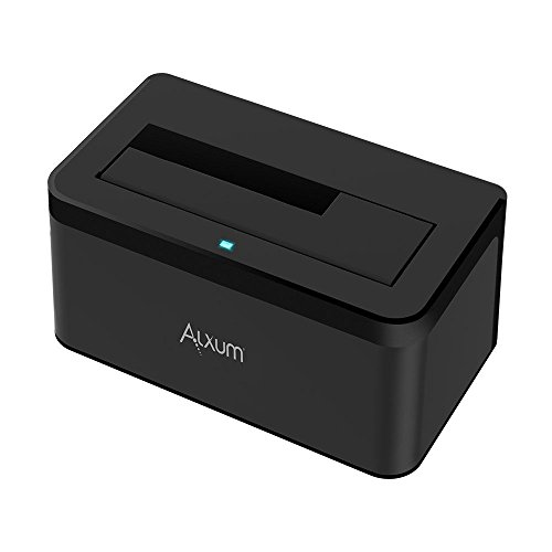 Alxum USB 3.0 to SATA External Hard Drive Docking Station for 2.5/3.5 Inch SATA I/II/III HDD SSD, Support 6TB/8TB, with 12V/2A Power Supply - Black by Alxum