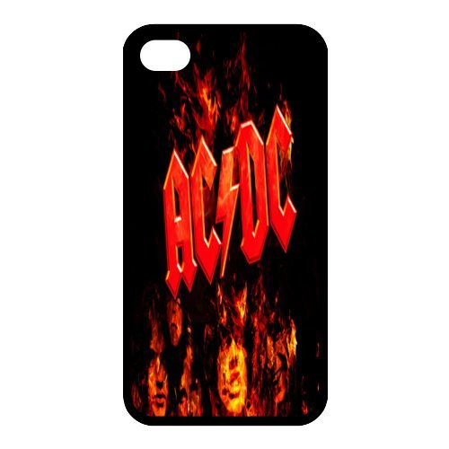 Iphone 4 4s ACDC Band Cover Shell Unique Shining Lightting Style Hard Music Rock Band Designed AC/DC Phone Case Cover for Iphone 4 4s