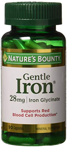 Nature's Bounty Gentle Iron 28 mg 90 Capsules