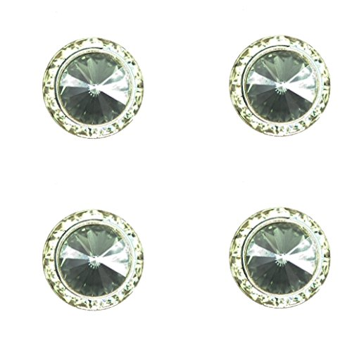 Horse Show Jewelry - Horse lover jewelry magnetic contestant show number pins swarovski black diamond crystal set of 4