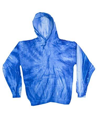Colortone Tie Dye Hoodie MD Neon Blueberry