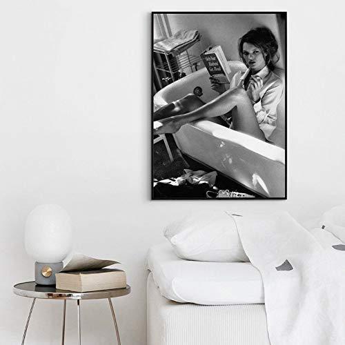 Kate Moss Poster Vintage Photo Wall Print Kate Moss Home Decor Kate Moss Canvas Print Kate Moss Artwork Kate Moss Watercolor Print