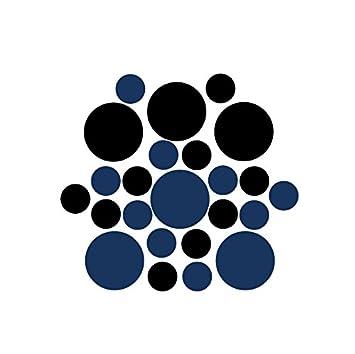 Amazon.com: Juego de 100 – negro/azul marino círculos ...