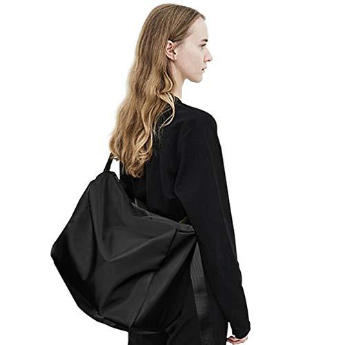 Crossbody Messenger Satchel Bag For Men, Travel Carry On Tote Bag For Gym, Overnight Weekender Bags For Women, Mens Shoulder Bags, Waterproof Black ... (Bag Travel Satchel)
