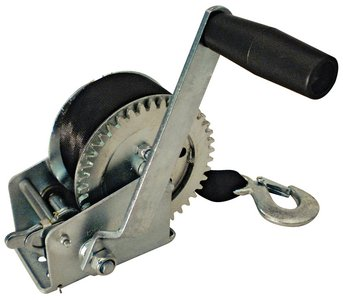 SEACHOICE 52191 Marine Trailer Winch 1,200 lb with Strap and Spring Hook by SEACHOICE