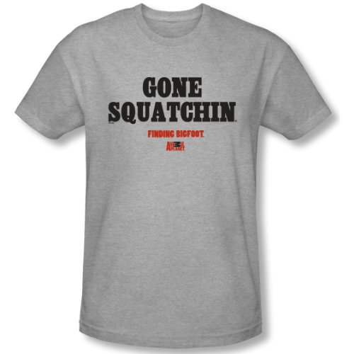 Finding Bigfoot Gone Squatchin' T-shirt - Heather Grey