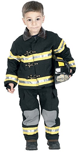 [Morris Fire Fighter Costume 4-6] (Scoobydoo Adult Plus Costumes)