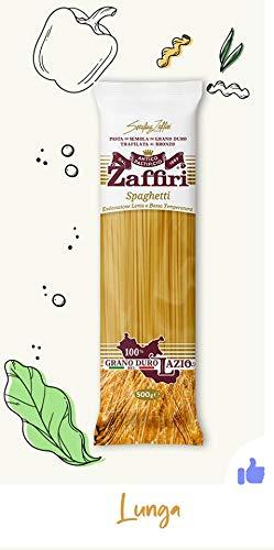 Zaffiri Pastificio Spaghetti aus Hartweizengrieß 500g - Erzeugt durch Bronze-Düsen-Extrusion - zu 100% aus Lazio