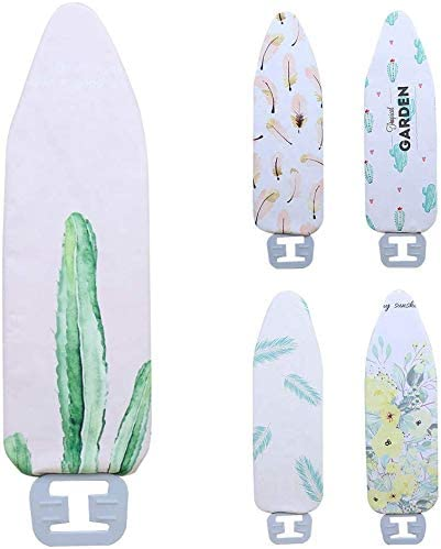 GCDN Ironing Board Cover Durable Heat Resistant Washable Thick Household Non-Slip Digital Printed Lightweight Protect Large Flat Reusable Replace(Pink Feather)