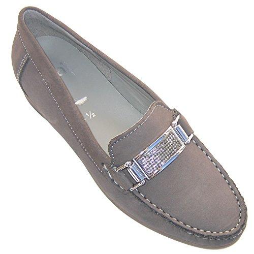 ara Women's Leather Slipper US 8 M (UK 5.5 / E 38.5) Gray (Ara Loafers Suede)