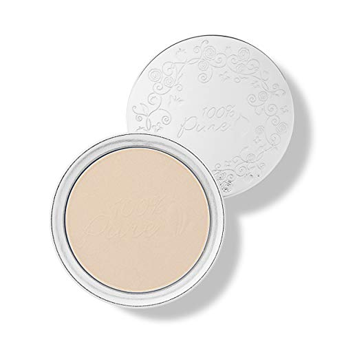 100% PURE Powder Foundation (Fruit Pigmented), White Peach, Matte Finish, Absorbs Oil, Anti-Aging, Helps Fight Acne, Natural, Vegan Makeup (Light Shade w/Yellow Undertones) - 0.32 Oz