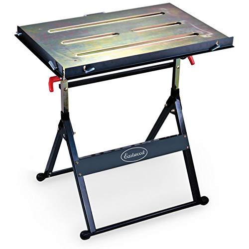 Eastwood Adjustable Steel Welding Table Strong Hold Industrial Workbench Table Welding 14 Gauge Plated Work Surface (Best Steel For Welding)