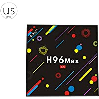 Egal H96 MAX H2 Smart TV Box 4G+32G Set-top TV Box 2.4G/5G WiFi Android 7.1 4K HD H.265 Media Player
