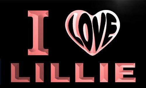 vg0235-r I LOVE YOU LILLIE Wedding Gift Night Light Room Decor Neon Sign Barlicht Neonlicht Lichtwerbung