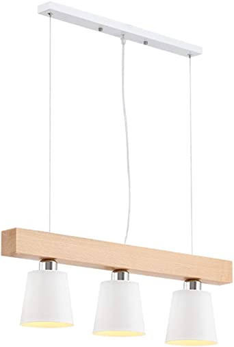 Feuilles - Lámpara de techo de madera para comedor, moderna ...