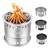 Camping Stove Outdoor, Wood Stove/Backpacking Stove, Portable Stainless Steel Wood Burning Stove BBQ Grate BBQ Plates Hiking Traveling Picnic BBQ (6.311.4) Review