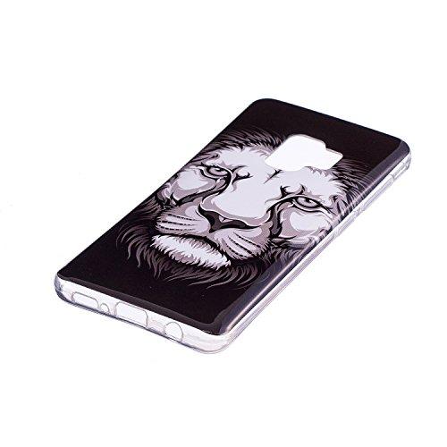 Hülle für Samsung Galaxy S9 (5,8 Zoll), Anlike Malerei Muster Case Cover Tasche Schutz Etui Schutzhülle für Samsung Galaxy S9 (5,8 Zoll) - Kameras Leopard