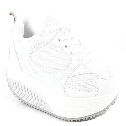Basculantes Bianco Benessere Glúteos Deportivas Rassodanti Zapatos Rassoda bianco Mujer Dimagranti Fitness xpCz40