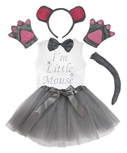 Petitebella Headband Bowtie Tail Gloves Shirt Skirt 6pc