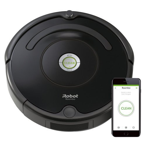 - iRobot Roomba 675 Robot Vacuum-Wi-Fi Connectivity, Works with Alexa, Good for Pet Hair, Carpets, Hard Floors, Self-Charging