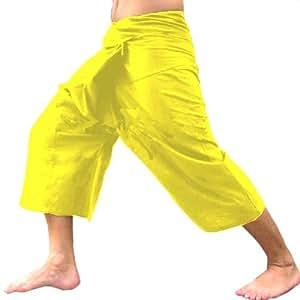 Yellow 3/4 Thai Fisherman Yoga Pants