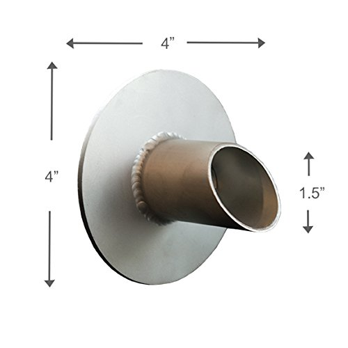 Waverly 1.5'' Round Water Spout Scupper Spillway for Pool, Pond, Fountain, Water Feature - Silver Metallic