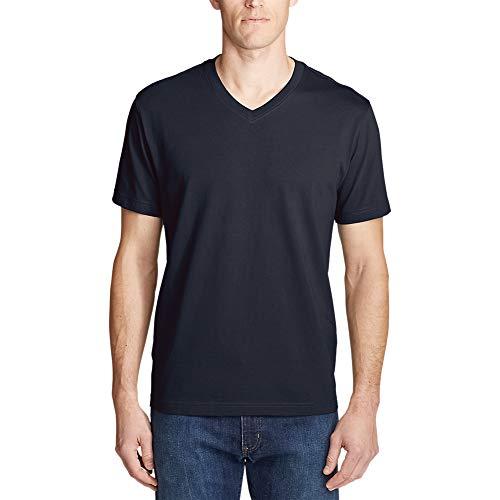 - Eddie Bauer Men's Legend Wash Pro Short-Sleeve V-Neck T-Shirt, Midnight Navy Reg
