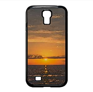 Orange Sunrise Beach Watercolor style Cover Samsung Galaxy S4 I9500 Case (Beach Watercolor style Cover Samsung Galaxy S4 I9500 Case)