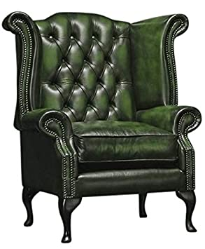 Chesterfield - Silla de Piel auténtica Envejecida con diseño ...