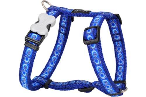 Red Dingo Designer Dog Harness, Small, Cosmos Dark Blue