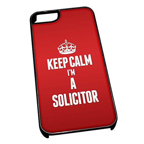 Nero cover per iPhone 5/5S 2681Red Keep Calm I m A Solicitor