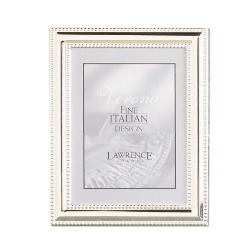 Lawrence Frames Metal Picture Frame Silver-Plate with Delicate Beading, 4 by ()