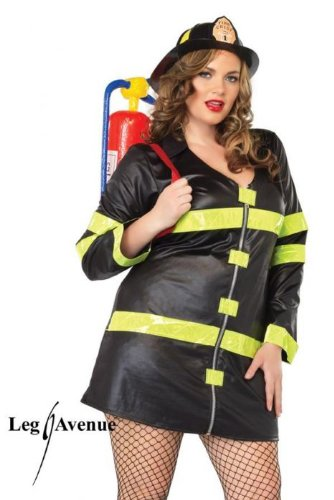 Fire Woman Costume - Plus Size 1X/2X - Dress Size 16-20 (Convict Lady Plus Size Costume)