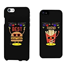 Cute BFF Phone Cases Hamburger and Fries Phone Covers for iphone 4, iphone 5, Case Cover For Ipod Touch 4 iphone 6, Case Cover For Ipod Touch 4 Galaxy S3, Galaxy S4, Galaxy S5, HTC M8, LG G3