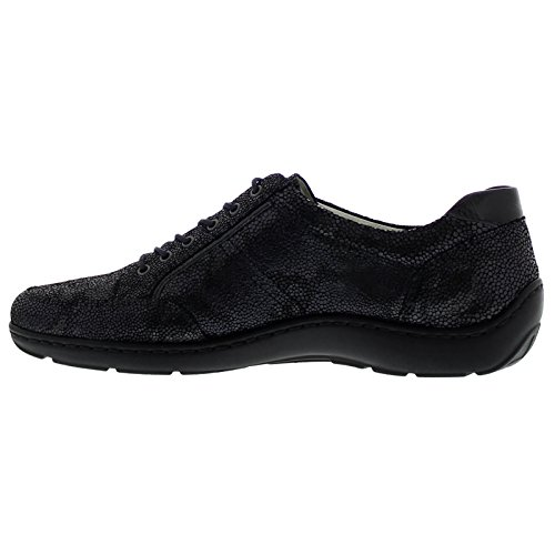 Waldlaufer Womens Henni Leather Shoes Schwarz