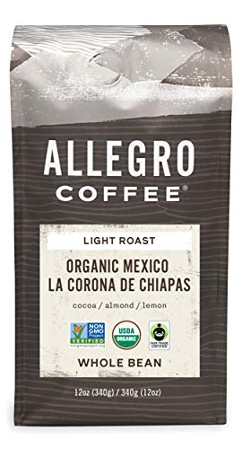 Allegro Coffee, Coffee Mexico Whole Bean Organic, 12 Ounce