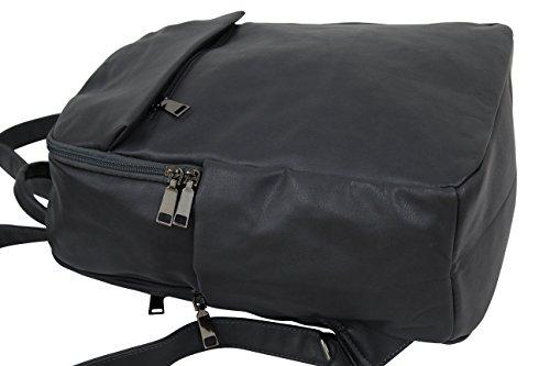 AMBRA Moda Damenrucksack CityRucksack DayPack Rucksackhandtasche Freizeit AD-9072 Grau Anthrazit