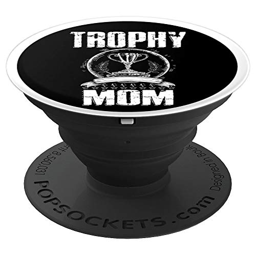 Mom Trophy Mother Vintage Women Trophy Mummy Gift - PopSockets Grip and Stand for Phones and Tablets