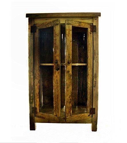 Western Pine Bookcase (The Bookstall: Rustic Glass-door Nightstand)