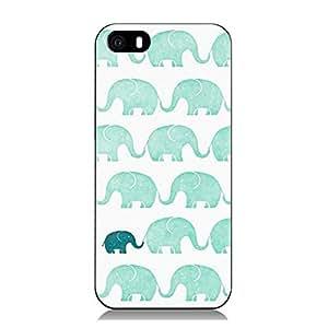 Light Blue Cute Elephant in the White Background hard Plastic back Case for Iphone 6.(SJKwm17)